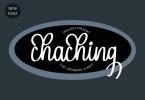 Chaching Font