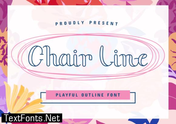 Chair Line Font