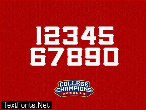 College Championship Font