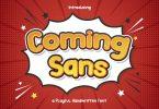 Coming Sans – Playful Handwritten Font