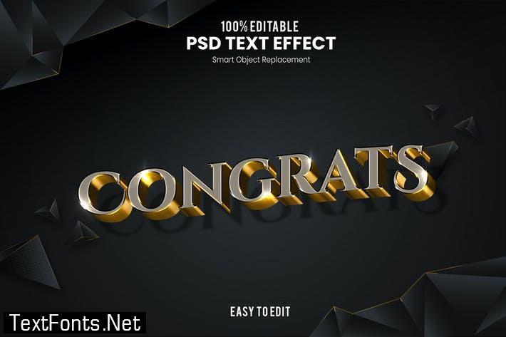 Congrats-3D Text Effect 4F3L5YG