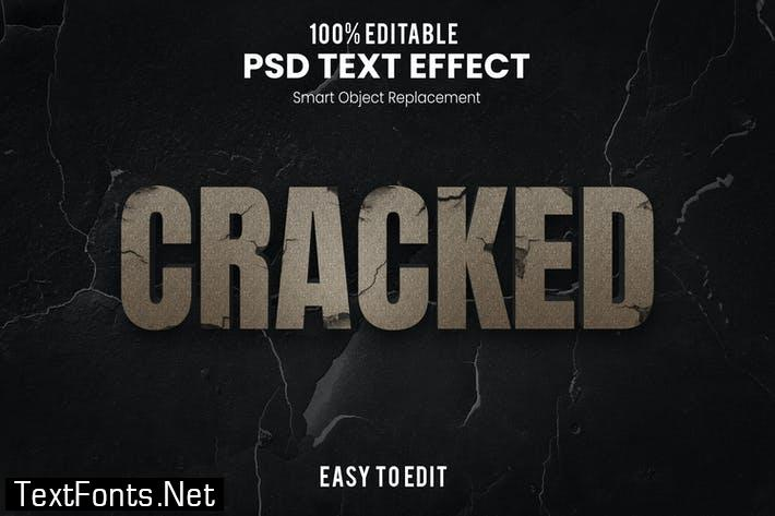 Cracked-3D Text Effect