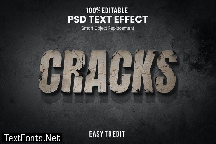 Cracks-3D Text Effect