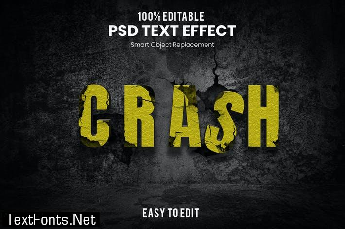 Crash-3D Text Effect