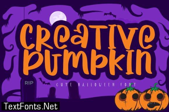 Creative Pumpkin Font