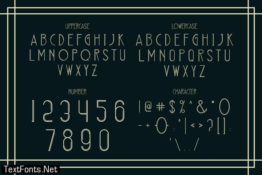DECONICO - art deco font