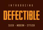 Defectible Font