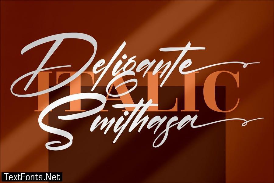 Deligante Smithasa Signature Font LS