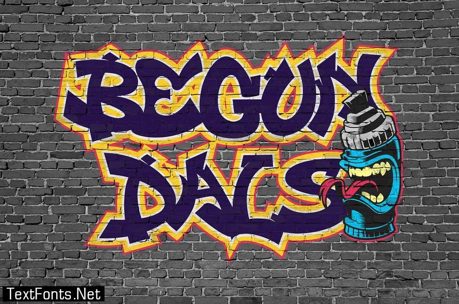 Derans Vandals - Awesome Graffiti Font