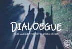 Dialoegue Font