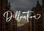 Dillnation - Elegant Signature Font