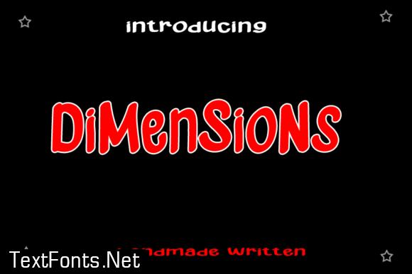 Dimensions Font