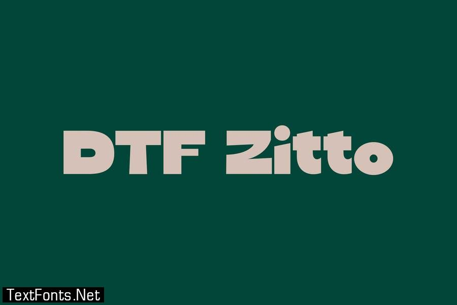 DTF Zitto Font