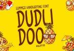 Dudlidoo - Kids font