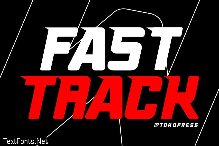 FAST TRACK - racing gaming font