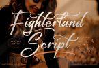 Fighterland Script Font LS
