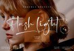 Flash Light Signature Font LS