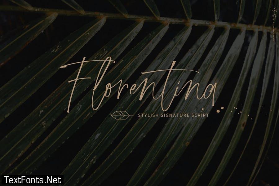 Florentina font signature script