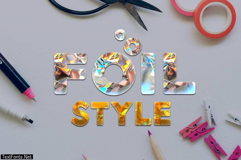 Foil Style Text Effect 4710228