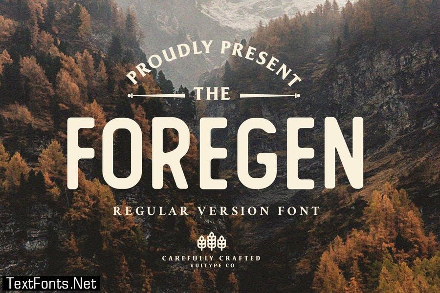 Foregen Regular Font