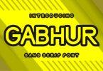 Gabhur Font