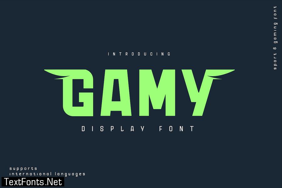 Gamy Font