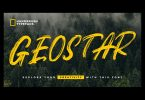 Geostar - Brush Font