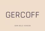 Gercoff Semi-Bold Font