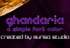 Ghandaria Font