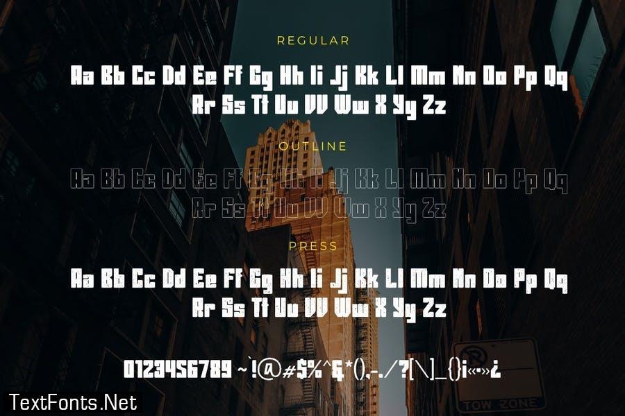 Giant Choke Modern Business Font