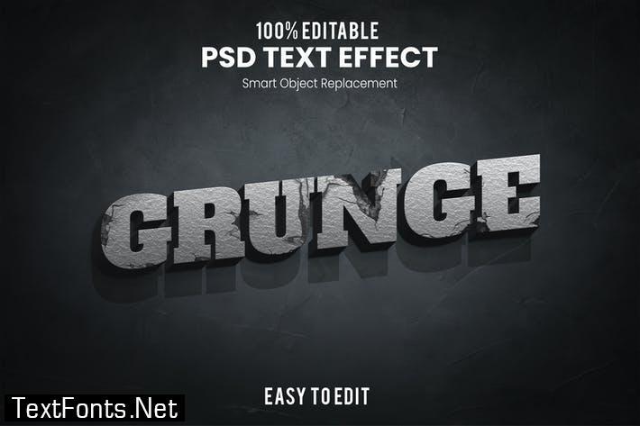 Grunge-3D Text Effect