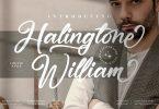 Halingtone William Modern Script Font LS