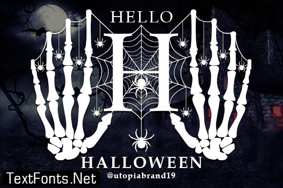 Hello Halloween Monogram Font