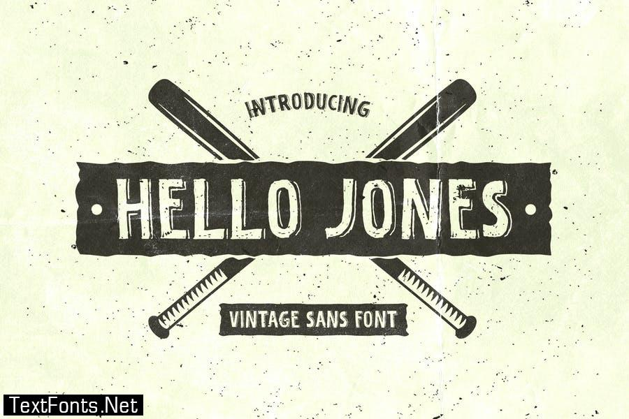 Hello Jones – Vintage Sans Font