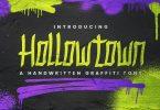 Hollowtown – Handwritten Graffiti Font