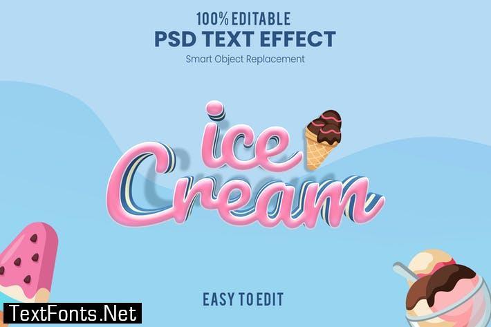 Ice Cream-3D Text Effect