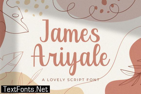 James Ariyale Font