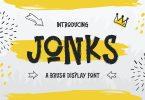 Jonks – A Brush Display Font