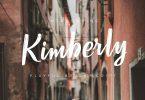 Kimberly Brush Script