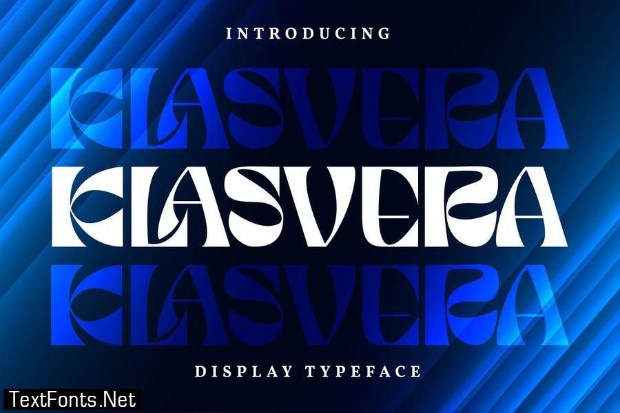 Klasvera | Display Typeface Font