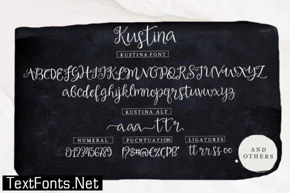 Kustina Script Font
