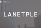 Lanetple Font