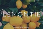 Lemontie Font
