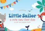 Little Sailor Font Duo