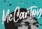 Mc Cartey Brush Display Font