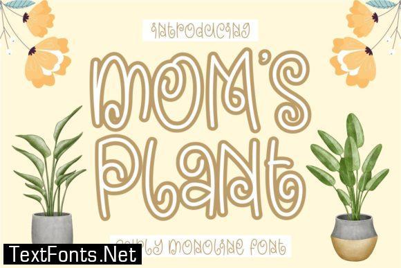 Mom's Plant Font
