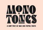 Monotones Font