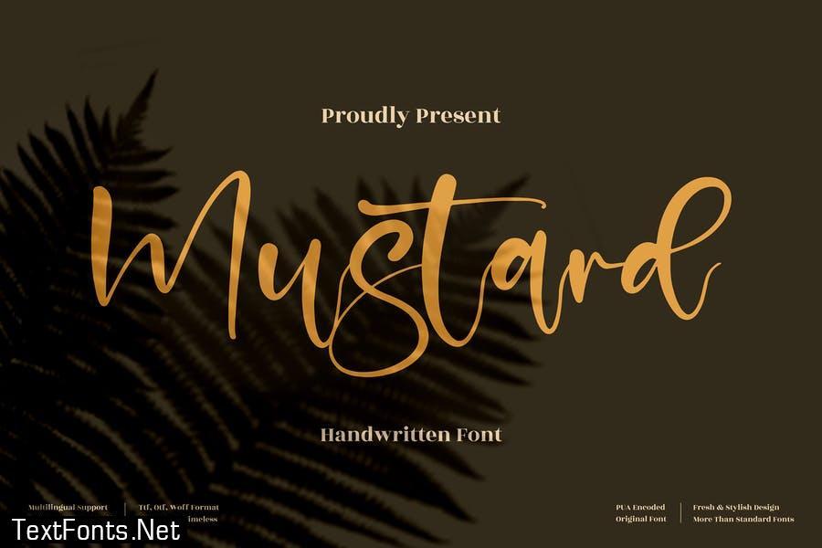 Mustard Handwritten Font LS