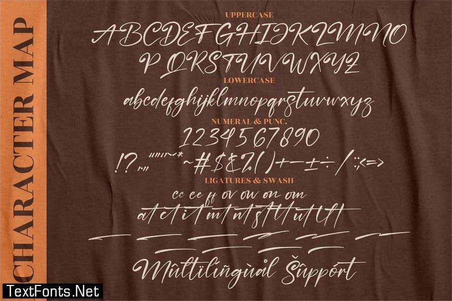 Nestone Signature Font LS