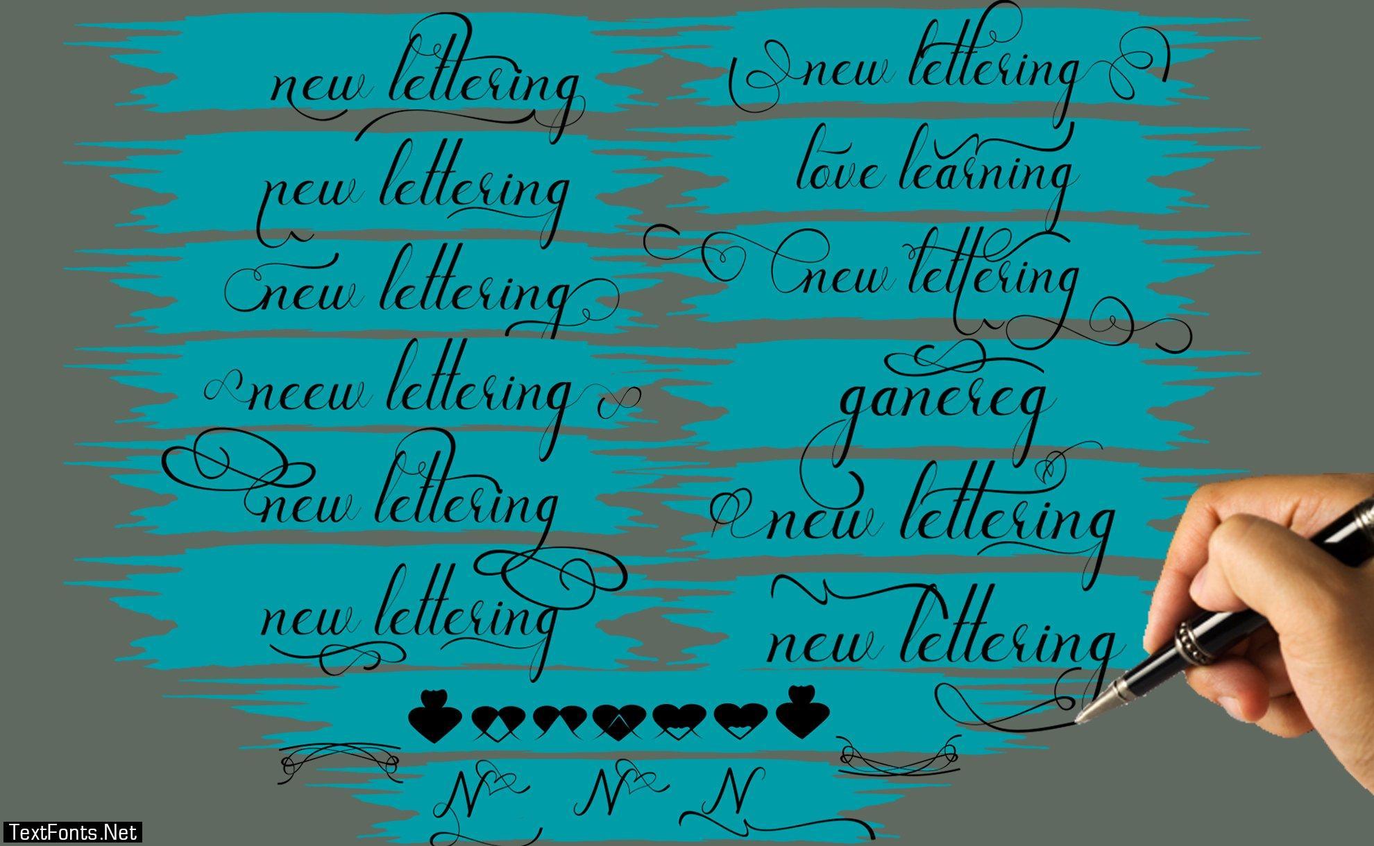New Lettering Font